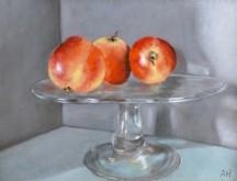 Arie Hollart, appelstilleven, 21 x 28