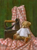 Eline Vroomans, gestreken beer, naar de waarneming, 40 x 30