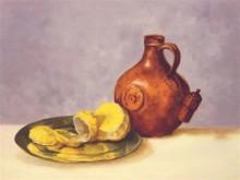 Hanny van den Heuvel, vrij naar o.a. Claesz. 30 x 40, 2e opdracht