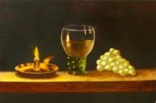 Hans van Megen, vrij naar claesz, 20 x 30