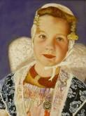 L.Subelack, Zeeuws meisje 40 x 30