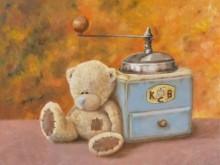 Laura Gruiters, koffiebruin, naar de waarneming, 30 x 40