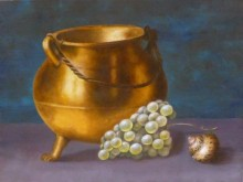 Laura Gruiters, vrij naar oude meester, 30 x 40
