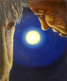 Len Samsom, maanlicht, 50 x 40