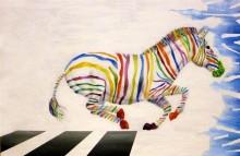 Lotte Lenkens, de omgekeerde wereld, 40 x 60