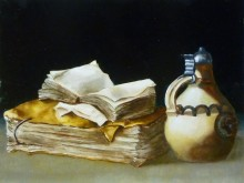 Maerten Versteegen, vrij naar oude meesters, 30 x 40