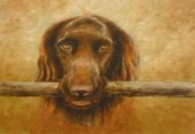 Andre van Workum, mijn hond, 30 x 40