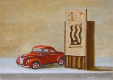 Ben Zwaans, het goede leven, naar de waarneming,      30 x 40