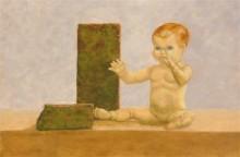 Christine van Oostrum, popje, 30 x 40 naar waarneming