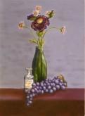 Christine van Oostrum, violet, naar de waarneming, 40 x 30