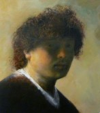 Cor Kuiper, naar Rembrandt 22 x 20