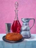 Brood en wijn (naar de waarneming) 40 x 30 cm Debora Brouwer
