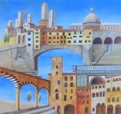 Fernanda Hulman       Italië fantasie 80 x 80