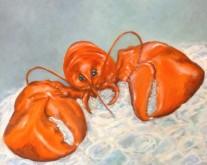 Hannah Siepman, onderkoeld rood, 40 x 50