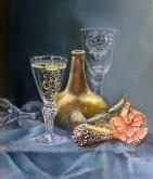 Hannelore Valentijn, glasstilleven, 30 x 25
