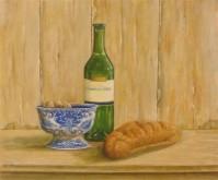 Henk van Tuil, Brood en wijn, 40 x 50 naar de waarneming
