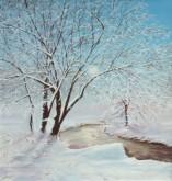 Inge Walda, sneeuw    50 x 40