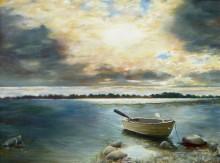 Inge Walda, wolken    30 x 40