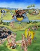 """Maria van Vegchel  """"Tuin der Lasten""""  Olieverf op doek  100 x 80 cm"""