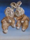 Maria van Vegchel, knuffels!!!!!, 40 x 30