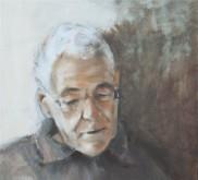Marjo Stakenborg, portret van mijn vader, olieverf, 40 x 40
