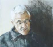 Marjo Stakenborg, portret van mijn vader, tempera, 40 x 40