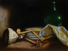 Paul Mansvelt, wajangpop, 40 x 30 naar de waarneming