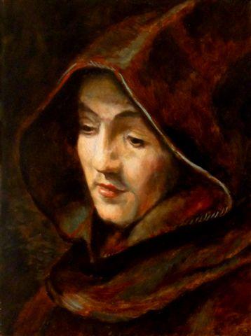 """Workshop portret naar Rembrandt """"Titus als monnik"""""""