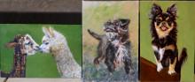 drie van de schilderijtjes die gemaakt zijn