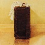 koffer, kleurpotlood