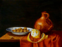 Annette Bodegom, vrij naar oude meesters, 30 x 40, 2e opdracht