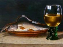 Geert van den Bogaart, vrij naar oude meesters, 30 x 40, 2e opdracht