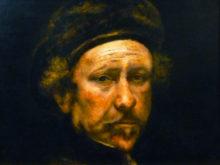 Hans van Megen, naar zelfportret Rembrandt, 30 x 40