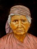 Hans van Megen, oud vrouwtje, 40 x 30