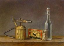 Jan Britsia, stilleven met brander, naar de waarneming, 4e opdracht, 40 x 55