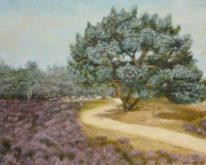 Maria Lenkens, heidelandschap, 40 x 50