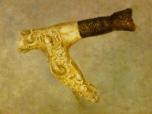 Maria van Vegchel, oosters zwaard, 30 x 40, naar de waarneming