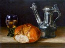 Mireille van Eerden, vrij naar Claesz, 30 x 40