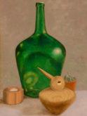 Sietske Hoppen, dronken eend, naar de waarneming, 40 x 30