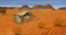 Maria Lenkens, woestijnzee, 40 x 70