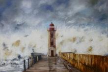 Marita Zuurhout, de storm is aangekomen, 40 x 60