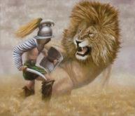 Geert van den Bogaart, gladioatorstrijd, 60 x 70