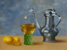 Claudia Cruiming, vrij naar Claesz., 2e opdracht, 30 x 40