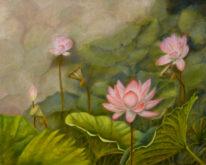 Cui Qi, heilige bloem, 40 x 50