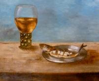 Jeannet Harmsen, vrij naar oude meesters, 2e opdracht, 30 x 40