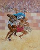 Wim van Polanen Petel, Retiarius versus Thraex, 62 x 50