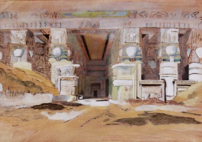 Ada van Loopik, Dendera II, 35 x 50, naar David Roberts