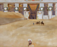 Ada van Loopik, Dendera I ,naar David Roberts, 50 x 60