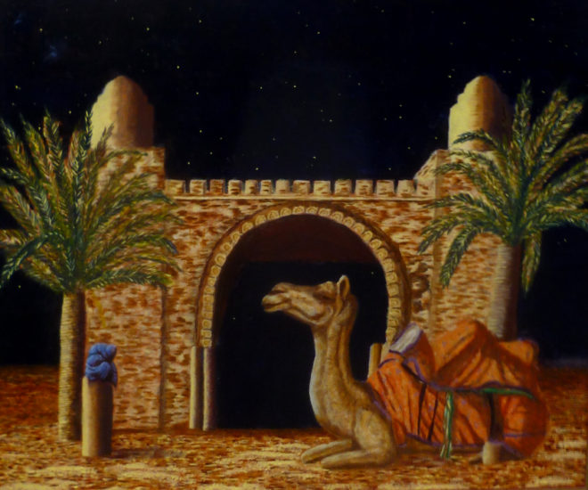 Giovanni Trani, Jetzt kommen die Kamele, 50 x 60