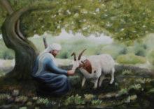 Monique van Hoorn, Jakobsschaap keert terug , 50 x 70